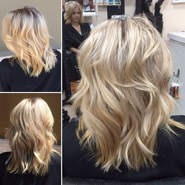 Different lighting inside and out! This babe had permanent BLACK hair just 5 months ago!!! ♡♡♡ With the quality of @schwarzkopfusa and @olaplex, we were able to keep the majority of her length, and process her to the blonde that dreams are made of! #blonde #blondeshell #blondie #phoenix #phoenixstylist #hairstylist #hairdresser #phoenixsalon #camelback #salonstudio #hair #highlight #schwarzkopf #olaplex #blondme #nofilter #behindthechair  @behindthechair_com @arizonabridalstylist ♡♡♡ i love what i do ♡♡♡ by @lovemyhairbykate