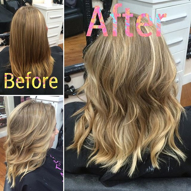 This sweet client wanted to fix her layers and go blonde, so that's what we did! #balayage #bronde #blonde #phoenixsalon #phoenixstylist #camelback #phoenixhair #balayage #babylights #babylightsandbalayage #schwarzkopf #olaplex #redkenshadeseq