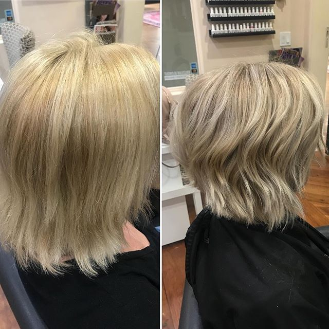 Color Correction Alert! Missy here came in after having the worst hair experience of her life....after just moving to Phoenix she tried a stylist that had been doing hair for decades! He did not listen to what she wanted and the end result ended up being bright gold, exactly what she did not want! A consultation is useless if you don't actually listen. #listentoyourclients #blonde #colorcorrection #blondehair #phoenixsalon #phoenixstylist #biltmoresalon #bombshell #nofilter