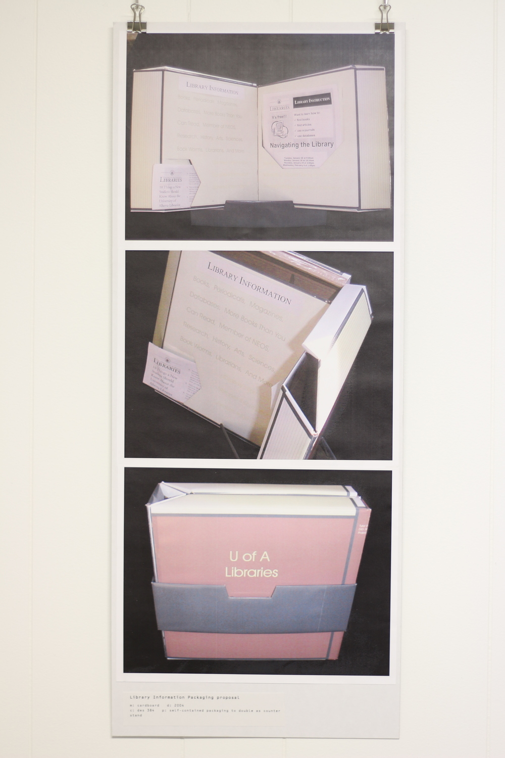 Library Information Packaging Proposal, 2004, Cardboard, Print-out, Des 384