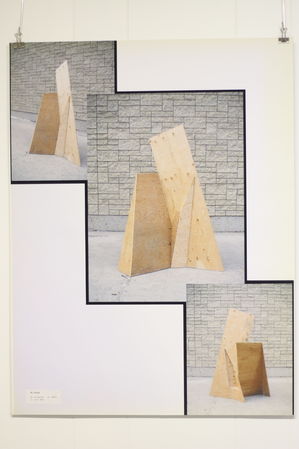 Kinked, 2003, Plywood, Art 367