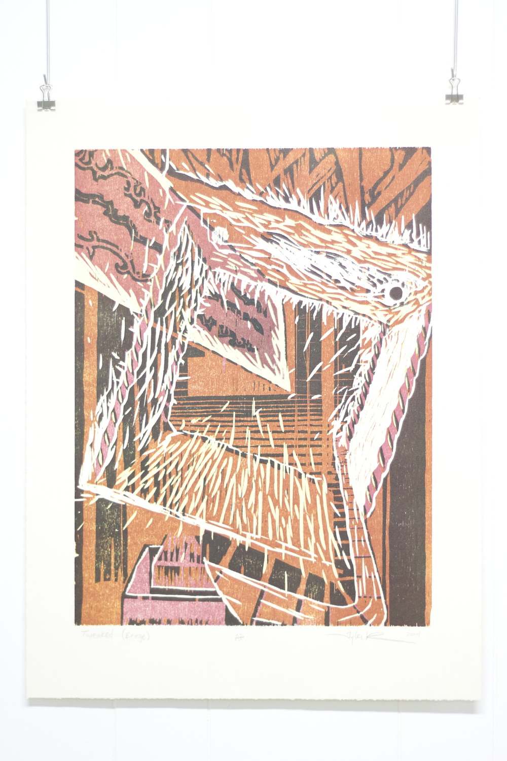 Tweaked (Ernge), 2004, Woodcut, Art 323