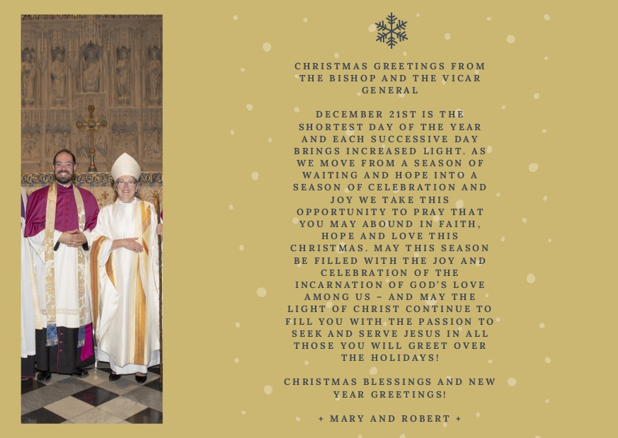 A christmas greeting from the bishop and the executive archdeacon a christmas greeting from the bishop and the executive archdeacon anglican diocese m4hsunfo