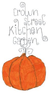 The Crown Street Kitchen Garden logo was designed by Kindy student Mink Van Nunen and his dad.