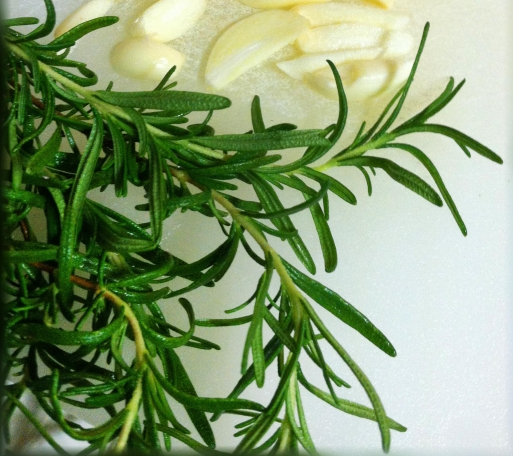 We used fresh rosemary from our garden