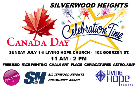 Canada Day Celebration in Silverwood Heights - 11am - 2pm Living Hope Church