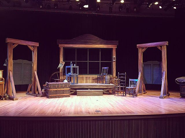 Tomorrow night this stage will be utilized by 11 actors. You're going to hate yourself if you miss this show. Only 3 performances!! #fayettevillear #openingnight #theatre #shrewcrew #thetamingoftheshrew