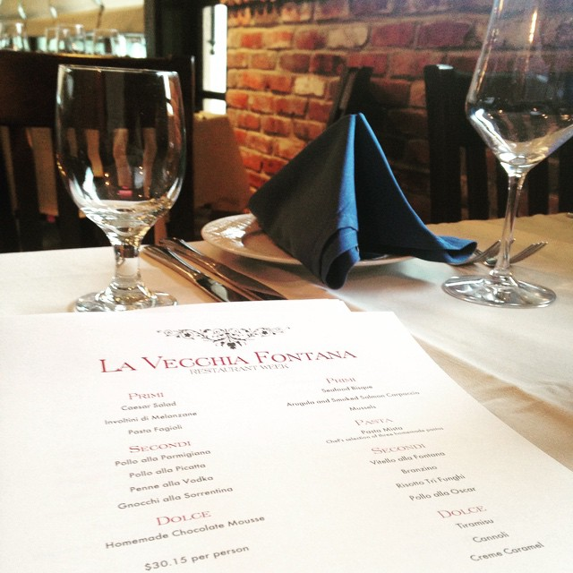 Restaurant week has officially begun! From June 1-7, stop in to try items from either of our two fabulous prix fixe menus. Call 609-967-7708 or visit us at lavecchiafontana.net to make a reservation!