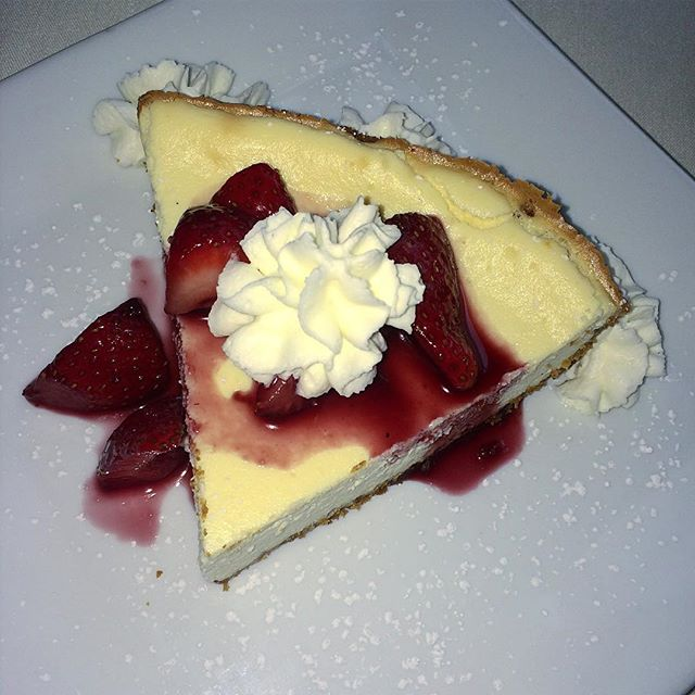 Come in and have our dessert special of the day, Grand Marnier ricotta cheesecake!!