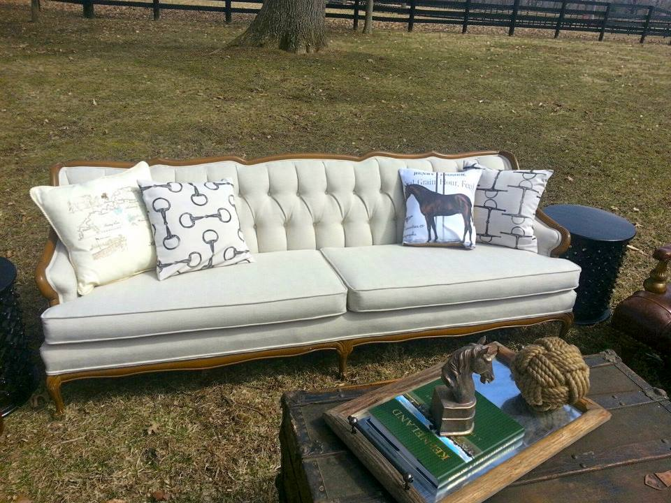 Perfect Antique Herringbone Sofa