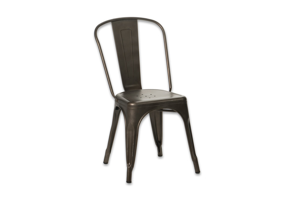 BRONZE METAL TABOURET CHAIRS   ARMLESS