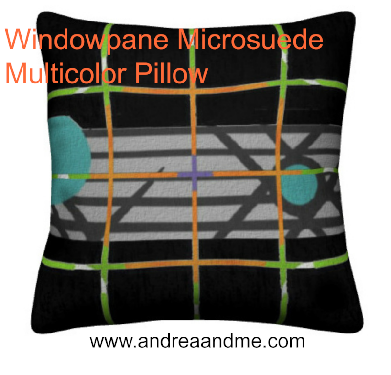 Throw pillows. Windowpane Microsuede Multicolor Pillow from The Pretty Pillows Collection at www.andreaandme.com