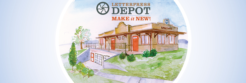 The future Depot beautifully rendered by board member Kim Morski!