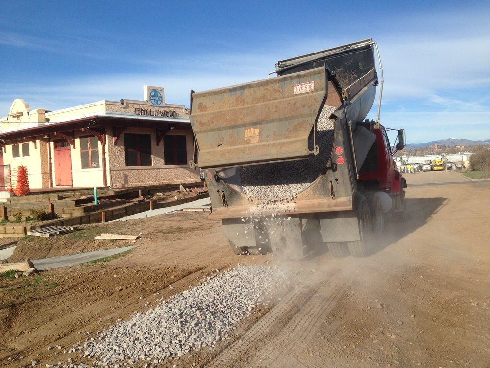 gravel being spread.JPG