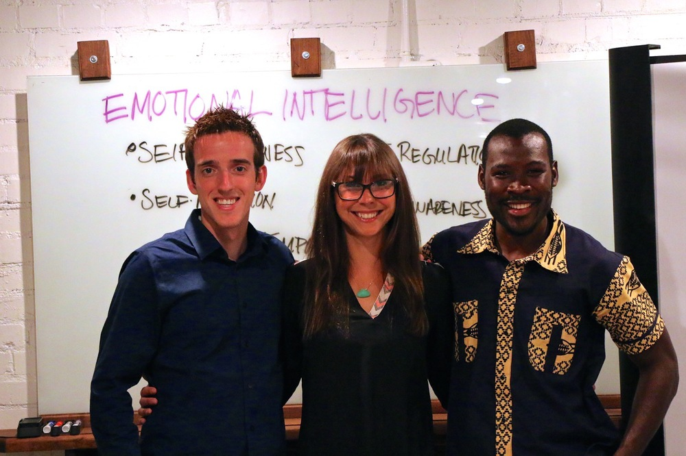 RENEW facilitators Adam Rubin, Christina Wehry and Uswege Mwakapango (left to right).