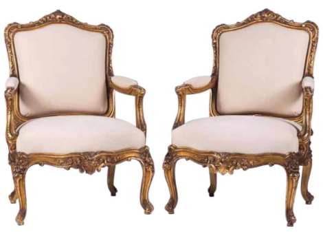 19TH CENTURY LOUIS XV STYLE GILTWOOD FAUTEUILS