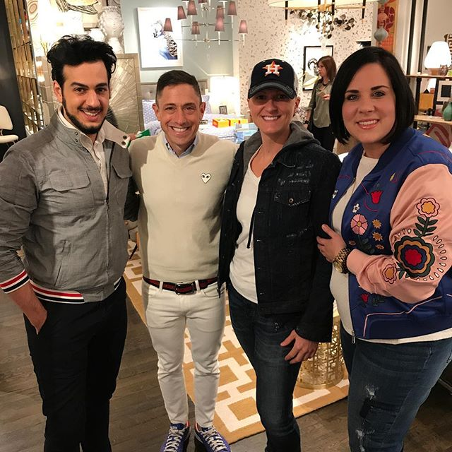 "Mr. Jonathan Adler, it was a pleasure to enjoy the evening with you.  Thank you for stopping by Moxie!  Tomorrow, My new ""hand ice cream cone"" vase is finding its home in my office.  #shopwithmoxie #livewithmoxie #jonathanadler #lucite #antique #cocktails #friends #untilnexttime #interiors #interiordesign #decor #designporn @roialan @jonathanadler @wendyb0581"
