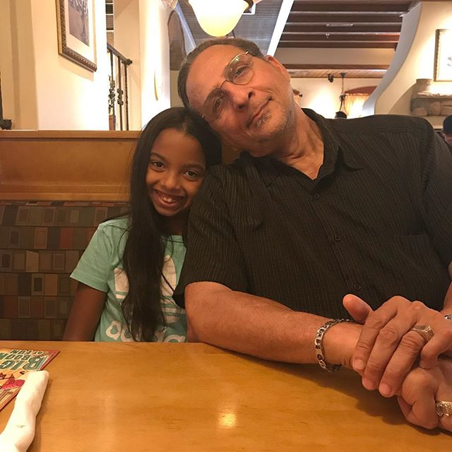#grandpaJoe + Jaelah = LOVE❤️. Tonight, we're gonna bake him some pie!