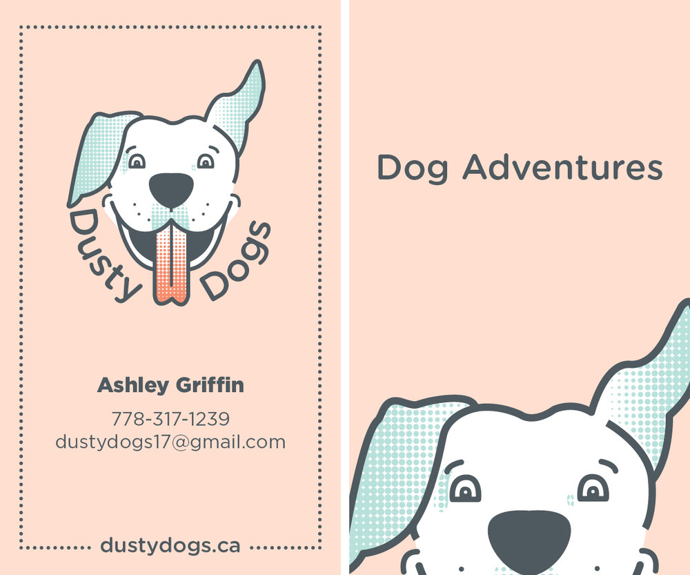 dusty dogs buisness card