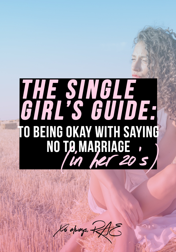 We all want love, but what if you feel like an outsider because you don't know if you're down for marriage in your 20s?