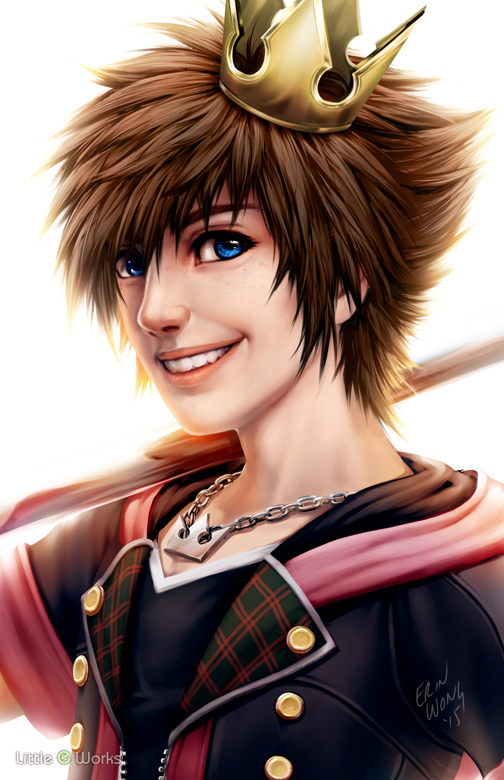 Semi-realism painting of Sora from Square Enix's Kingdom Hearts series.