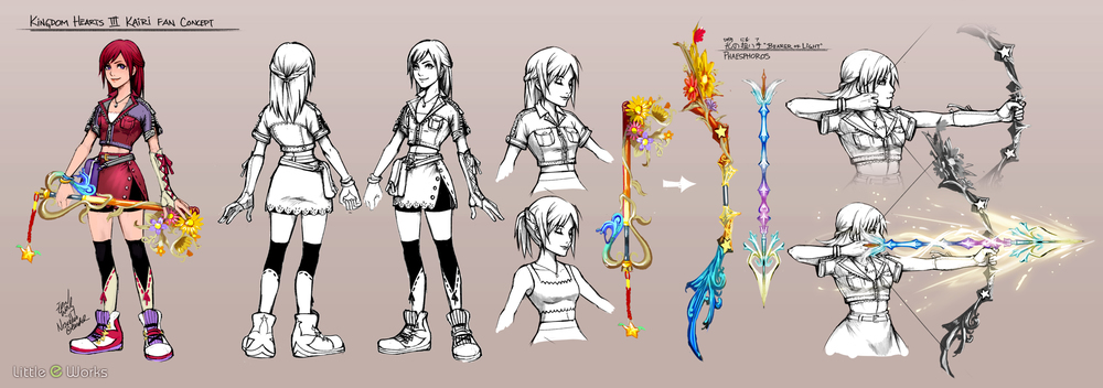 Fan concept artwork for SquareEnix's Kingdom Hearts series.