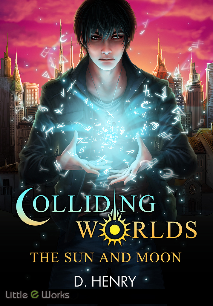"Front cover illustration for ""Colliding Worlds"" novel, written by Dean Henry"