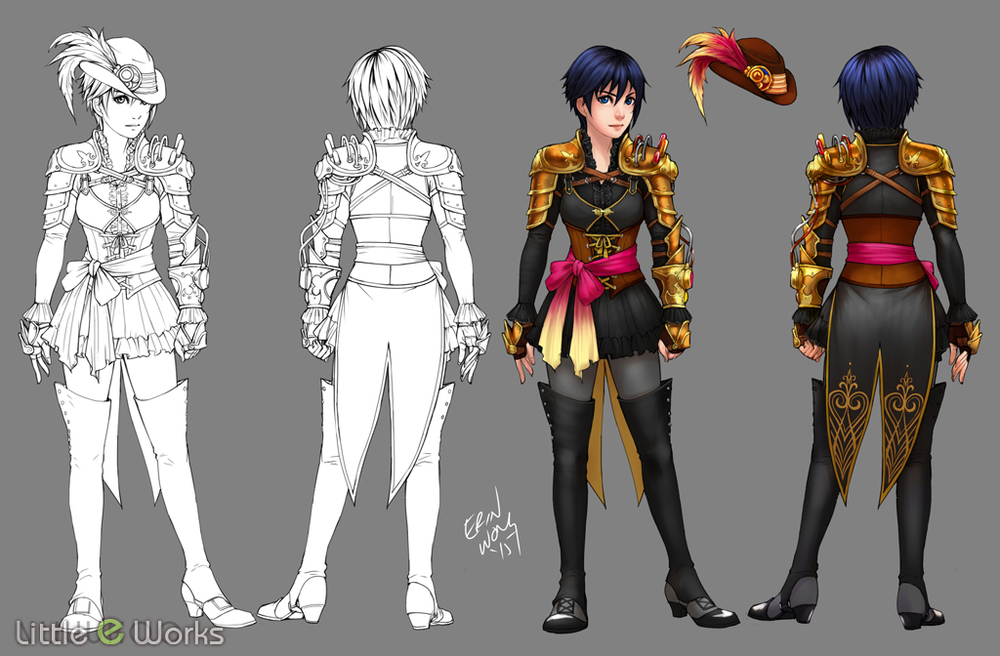 Steampunk Costume design for Xion from Kingdom Hearts Series