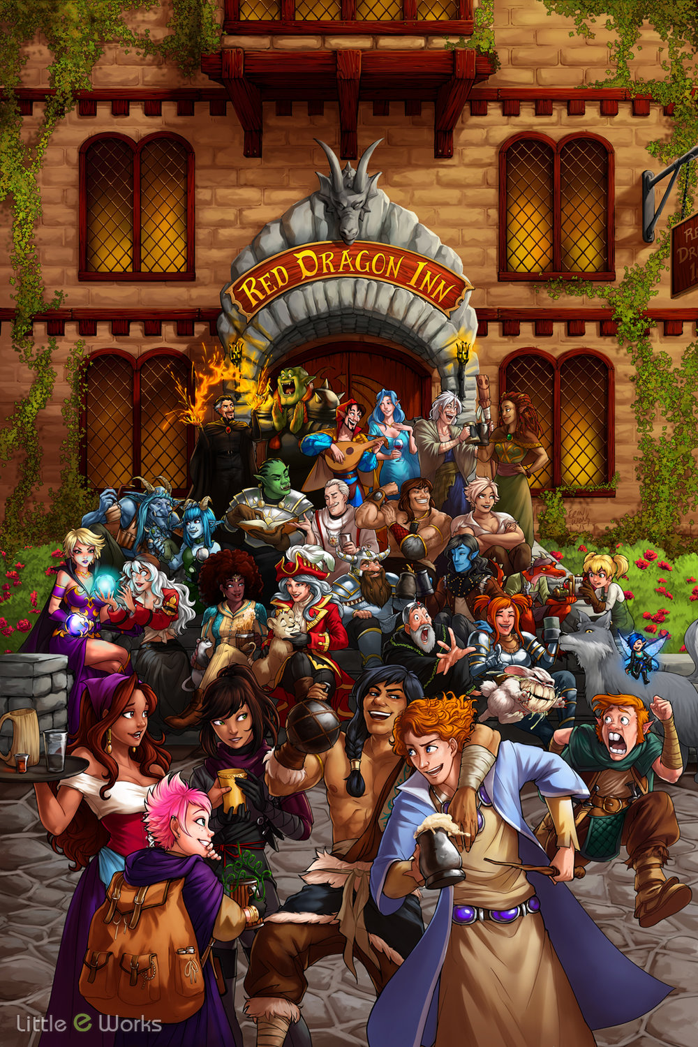 Official Box Art for SlugfestGames' Red Dragon Inn 5