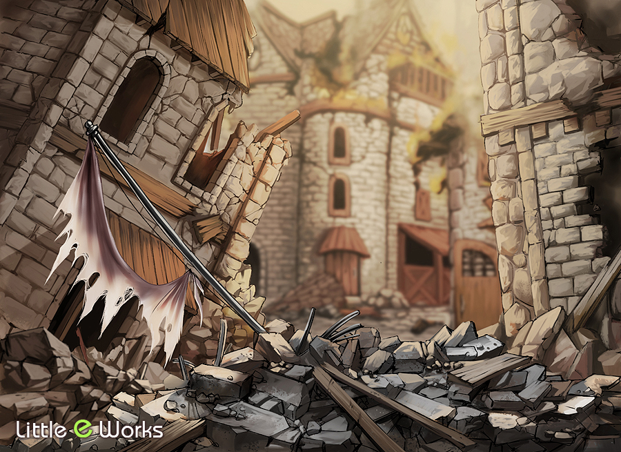 "Background illustration for ""Boss Cards"" in SlugfestGames' RDI: Battle For Greyport"