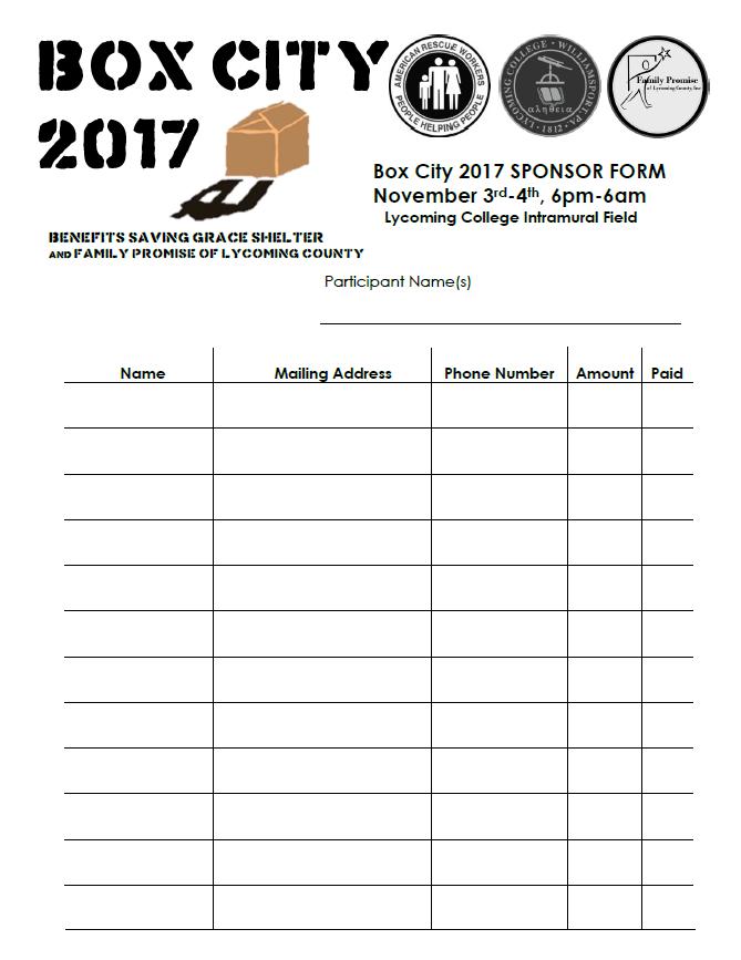 Click to open printableBox City Sponsor Form