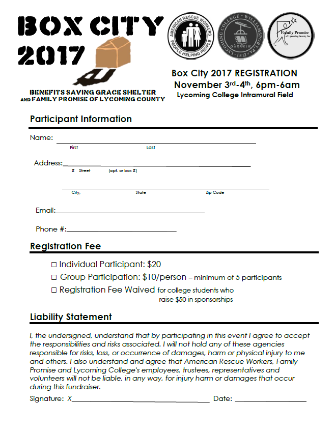 Click to open printable Box City Registration Form