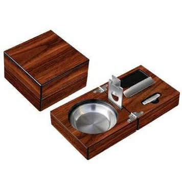 Folding Wood Cigar Ashtray w Cutter.jpg