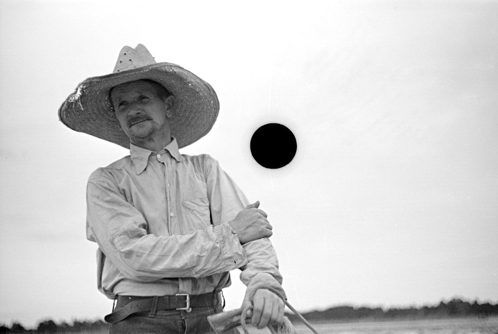Untitled photo, possibly related to nearby photo captioned: Farmer, Irwinville Farms, Georgia. May, 1938.