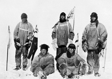 (fig  0.1). Henry Bowers,  Oates, Bowers, Scott, Wilson, and Evans at the South Pole,  18 January 1912, halftone photograph reproduced in the  Daily Mirror  (21 May 1913) with the caption 'Triumph Before Death: The Five Heroes at the South Pole'.