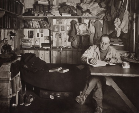 (fig  0.2). Herbert Pointing,  'Capt. Scott in his den' , 7 October 1911, gelatin silver print.