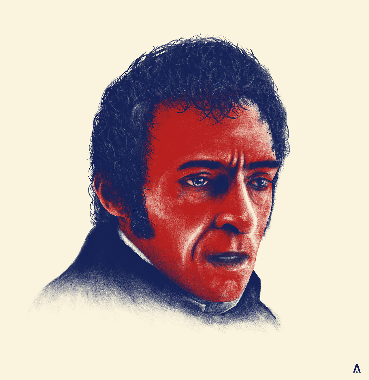'24601'   My illustration of Hugh Jackman as Jean ValJean from the movie musical 'Les Miserables'. This is the first in a planned series of conceptual portraits of characters from movies, tv shows, bands etc!    Trialled some new techniques with this one, they were not working at all, and the I had a revolutionary break through which now will change the way I work which is a fantastic thing! Hope you all enjoy!    More to come, Remember to hit me up on  Facebook ,  Twitter  for other updates too! Thanks