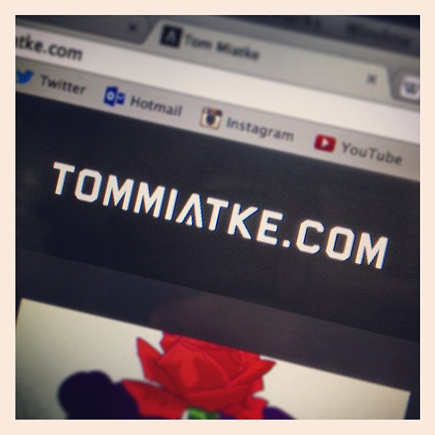 My new website is up and running!!!! Woop!! Take a look here: tommiatke.com