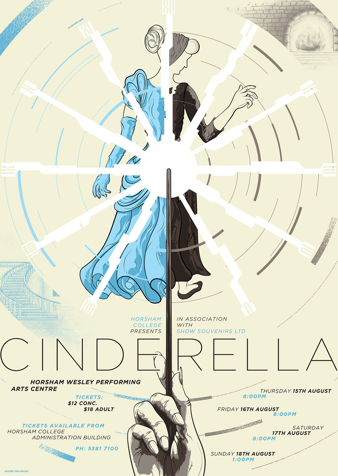 A recently completed poster for a local musical of 'Cinderella'. Trying out some very different styles to what I am accustomed to and had a lot of fun doing it!