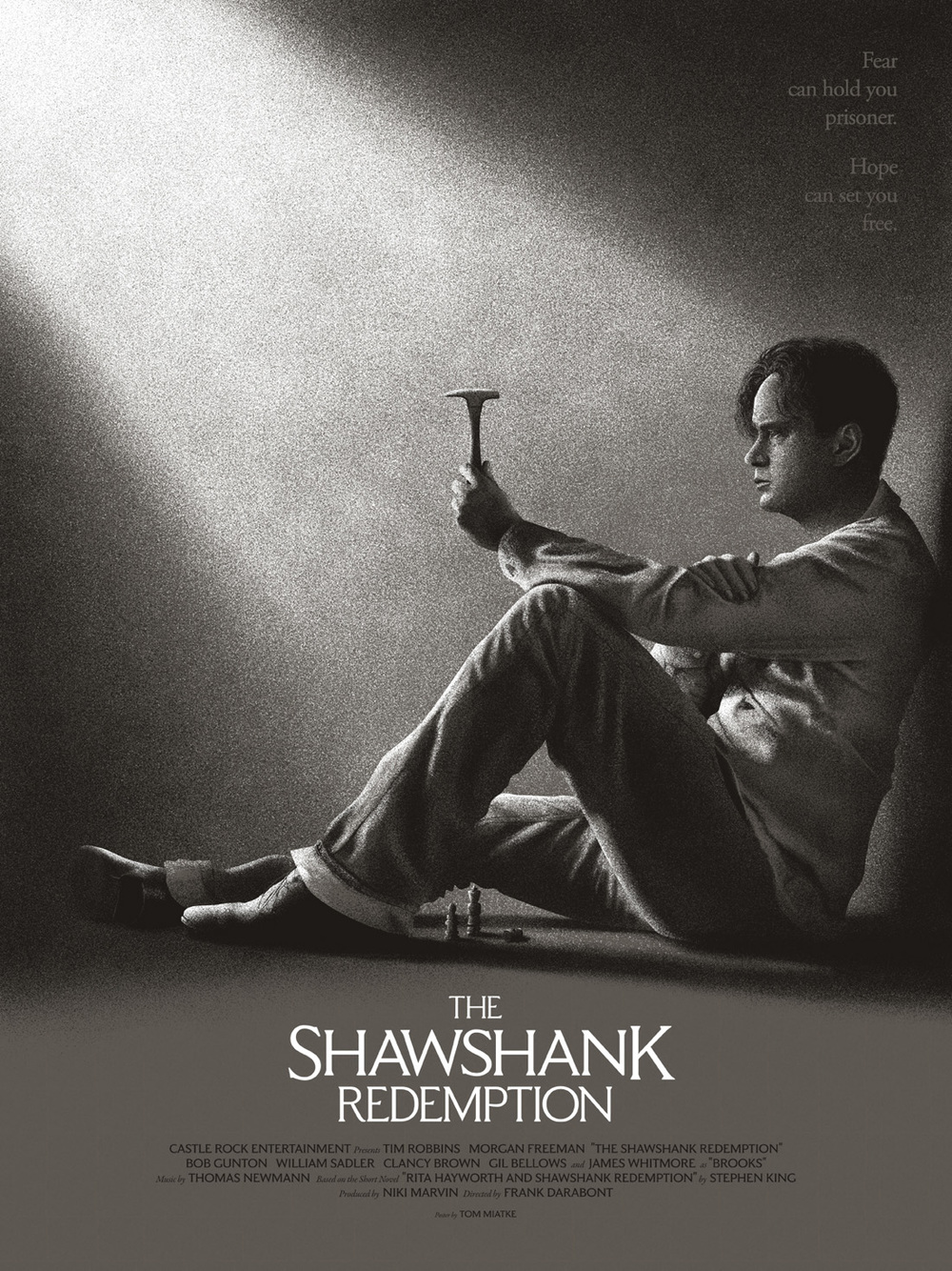Shawshank Redemption AP Edition of 10 2 Colour Screenprint $35USD