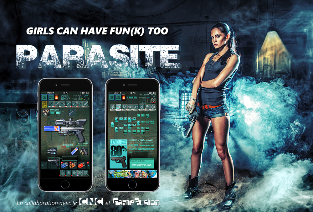 PARASITE - Geolocation concept iOS/Android game in development. GameFusion 2013-14