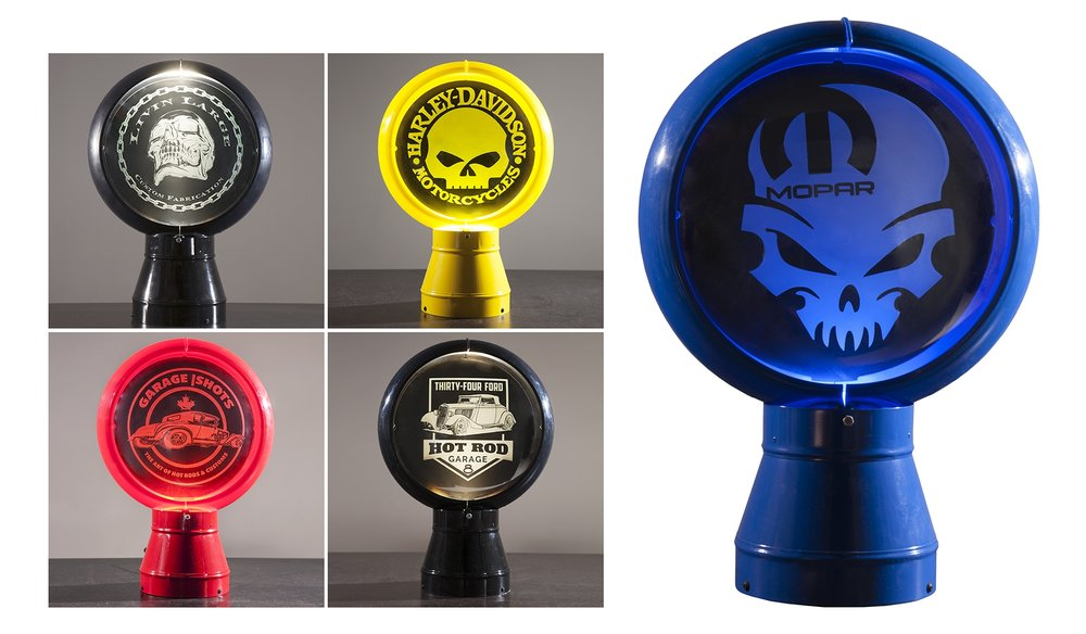 Custom Gas Pump Globes