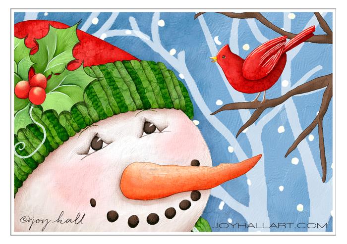 JoyHall-SnowmanTweetGreetings.png