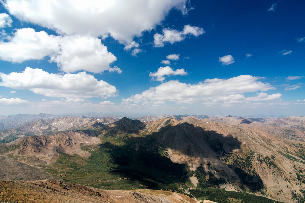 Mount Views From The Summit Of Mount Elbert