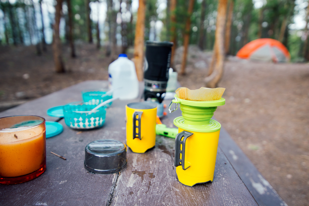 Camping Coffee And Breakfast