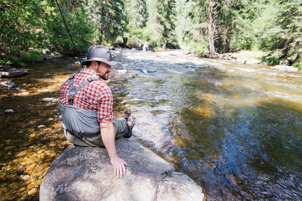Fisherman At South Boulder Creek