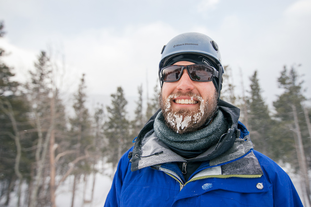 Winter Man With Frosted Beard