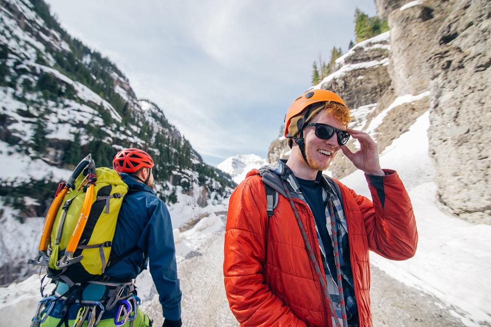 Climbers in Ouray, Colorado
