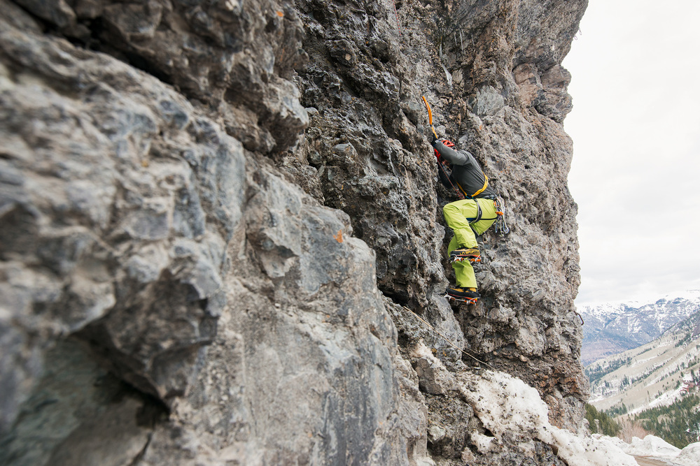Climbing in Ouray, Colorado