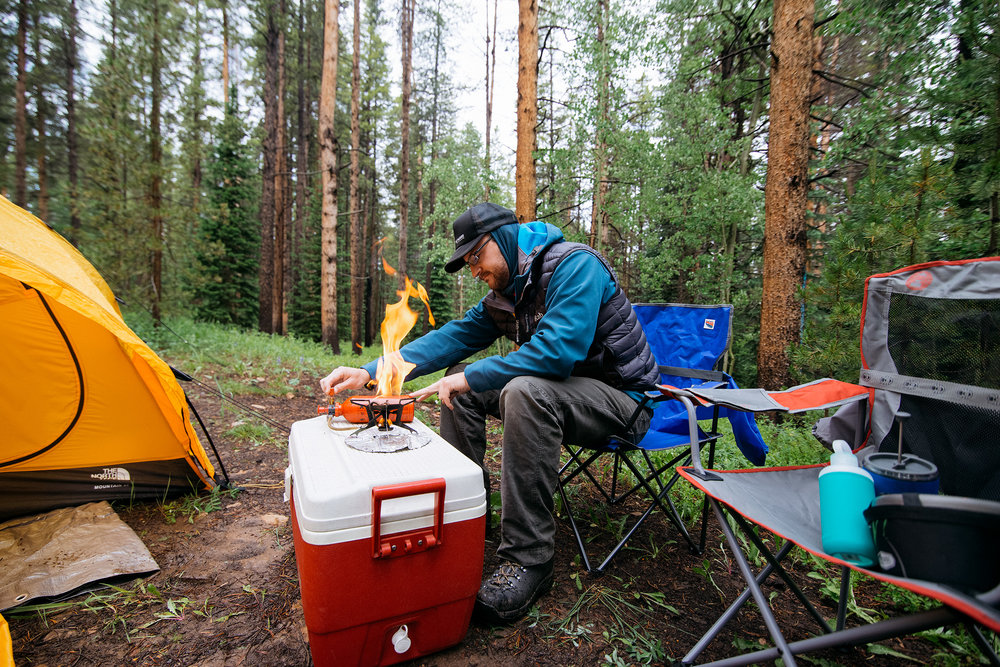 Camping in Lime Creek Canyon